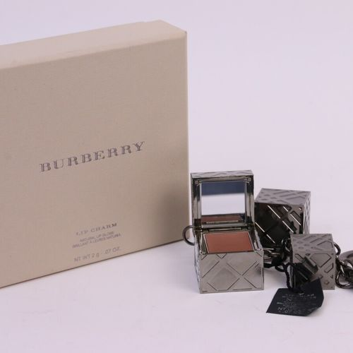 """Burberry """"Lip Charm"""" (years 2010)  Jewel of bag or key ring in metal composed of…"""