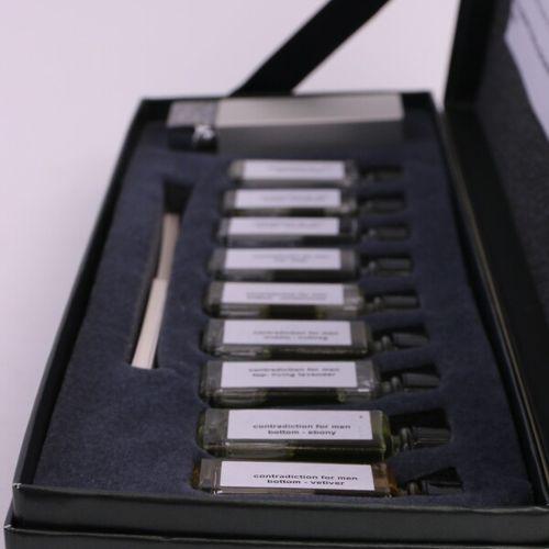 """Calvin Klein """"Contradiction"""" (1990)  Box containing a 10ml bottle of eau de toil…"""