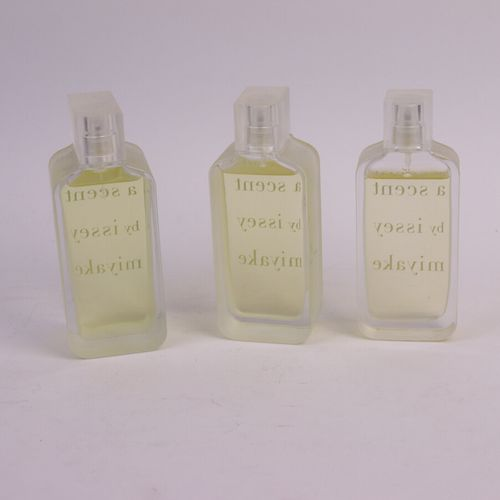 """Issey Miyake """"A Scent by Issey Miyake"""" (years 2000)  Three spray bottles contain…"""