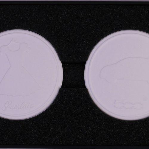 "Guerlain ""La Petite Robe Noire"" (years 2010)  Illustrated box containing 2 ceram…"