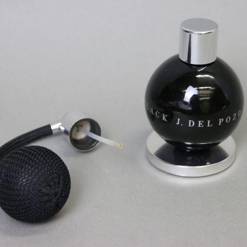 """Jesus Del Pozo """"Black for Men"""" (years 2000)  Modernist spray bottle containing 5…"""