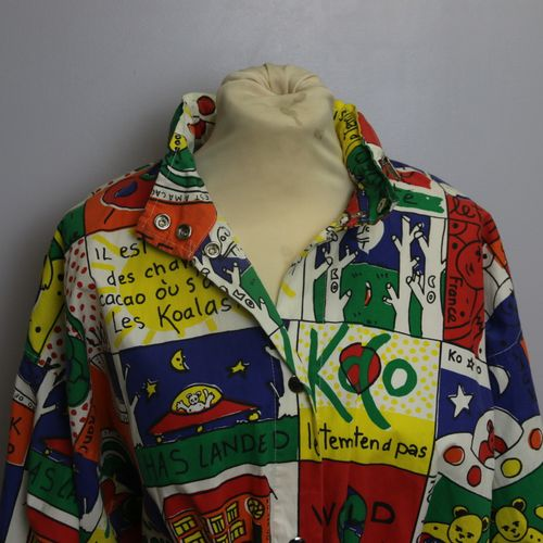 KO and KO by Jean Charles de Castelbajac circa 1990,  Hooded raincoat with two f…