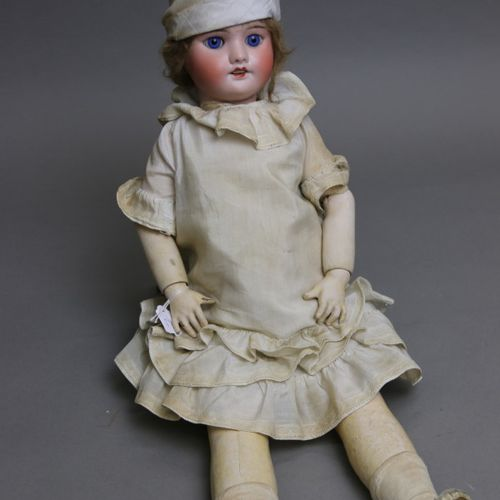 "French doll, with bisque head, open mouth, marked "" SFBJ 60 PARIS "" size 6, orig…"