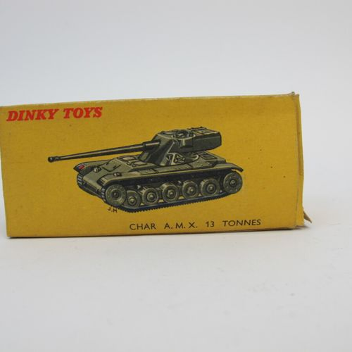 Dinky toys set of 2 military miniatures in original box including : AMX tank 13 …