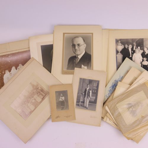 Important set of more than fifty photographs, mostly silver (laminated prints, b…