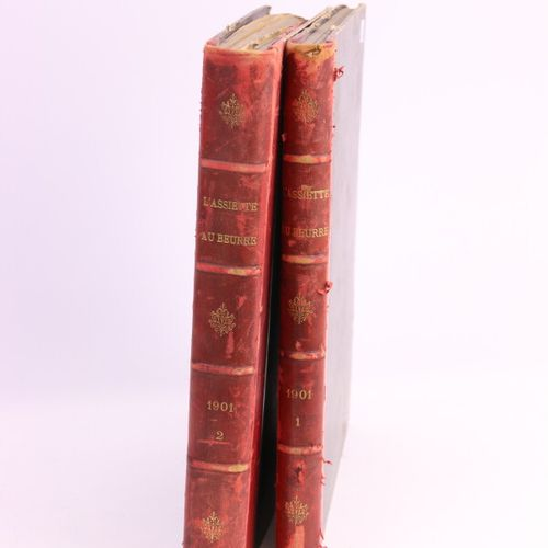 THE BUTTER PLATE  Bound journals, year 1901 in two volumes.  (as is)