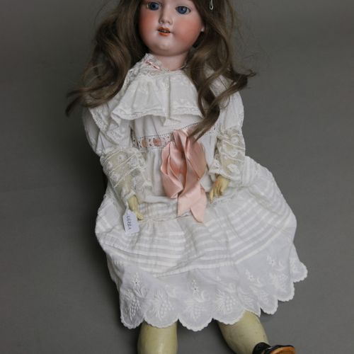 """German doll, with bisque head, open mouth, marked """" ARMAND MARSEILLE 390 AM 6 ½ …"""