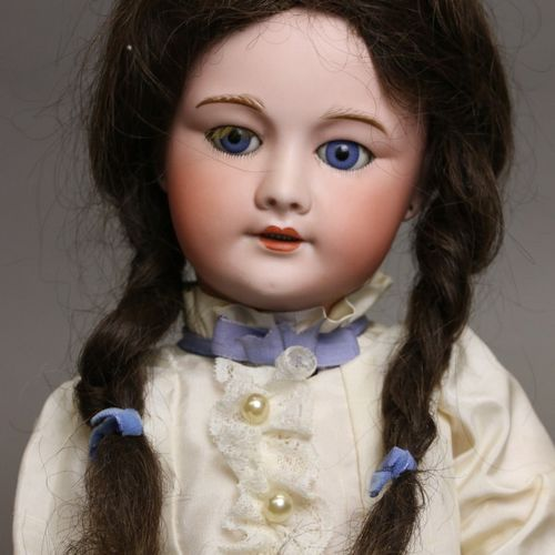 "French doll, with bisque head, open mouth, marked "" SFBJ 301 PARIS "" size 10, bl…"