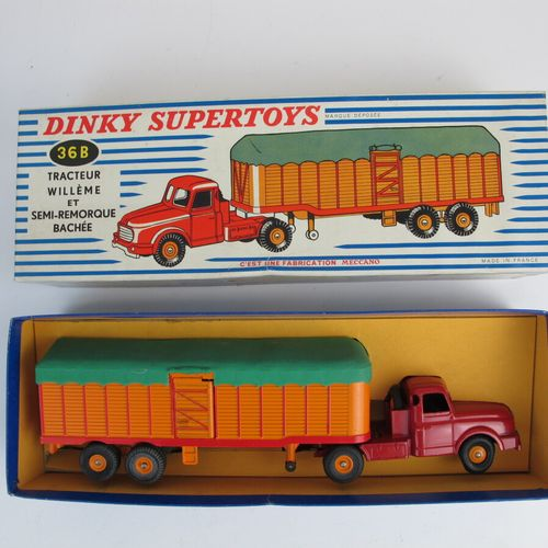 Lot of 2 Dinky supertoys so Willeme tractor with semi trailer fardier reference …