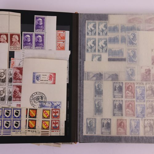FRANCE Issues 1863/1960: 4 binders containing mainly mint stamps, from 1940, Pos…