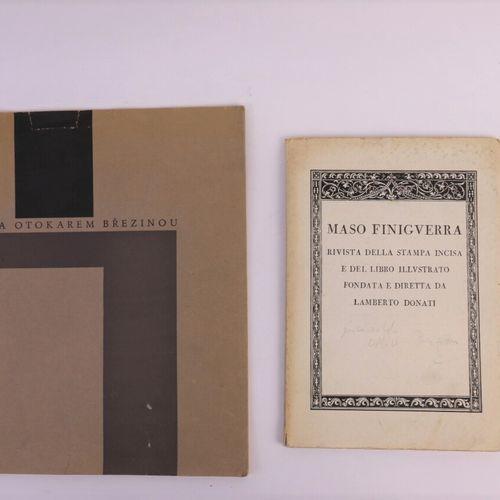 Batch of 2 books including :   Maso Finiguera, Revue de l'Estampe et du Livre il…