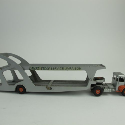 Dinky supertoys tractor unic semi trailer car carrier reference 39A good conditi…