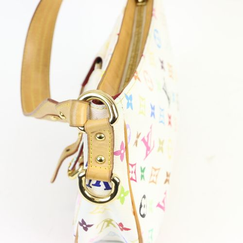 LOUIS VUITTON  Sac porté main ou épaule en toile monogramme multicolore et cuir …