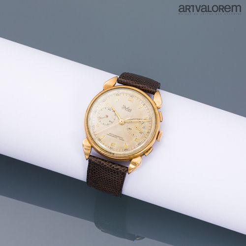 DULCIA 17 rubis  Montre bracelet Antimagnetic Chronographe en or jaune 750°/°° e…