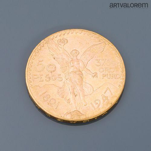 Une pièce de 50 Pesos mexicain or    FRAIS JUDICIAIRES : 14,28 % TTC