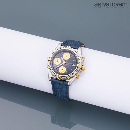 BREITLING ''BLUE ANGELS''  Montre chronographe en acier bicolore, cadran bleu 3 …