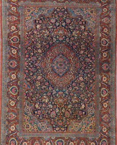 Ancien et fin KACHAN DABIR (Iran) début XXe Atelier de Maître Dabir, dans la tra…