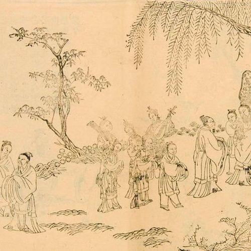 Xin Kan Sheng Ji Tu Ji Illustrated biography of Confucius. 1874. 53 double page …