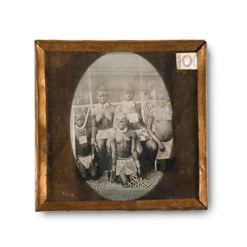Collection of 97 glass plate slides with views mostly of Germany (Berlin Steglit…