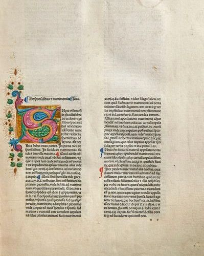 Incunabula    Panormitanus de Tudeschis, N    Lectura super quinque libros Decre…