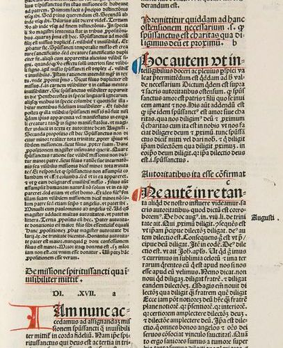 Incunabula    Lombardus, Peter    Sententiarum libri IV cum conclusionibus Henri…