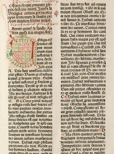 Incunabula    Voragine, James de    Sermones de sanctis. With numerous underline…