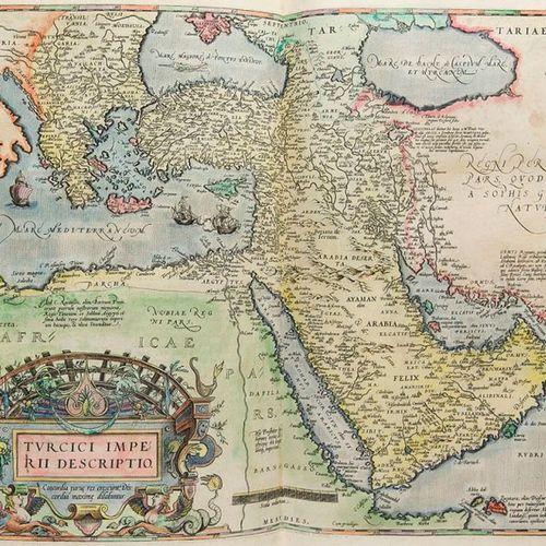 Atlases    Ortelius, Abraham    Theatrum Orbis Terrarum. With colored copper tit…