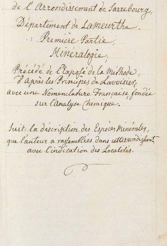 Mineralogy    Rozin, Frédéric André    Essai sur l'Histoire naturelle de l'arron…