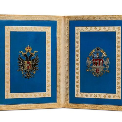 Sissi        Opulent honorary gift of the Private Civil Infantry Corps Prague to…