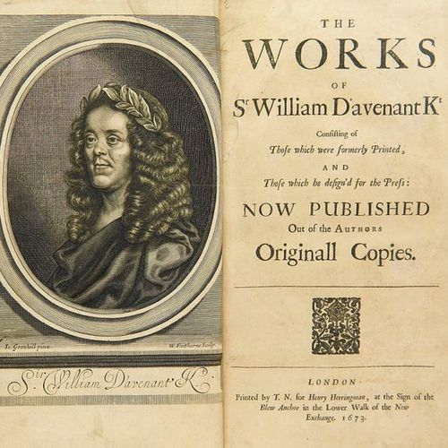 Davenant, William    The Works of Sr William Davenant Kt consisting of those whi…
