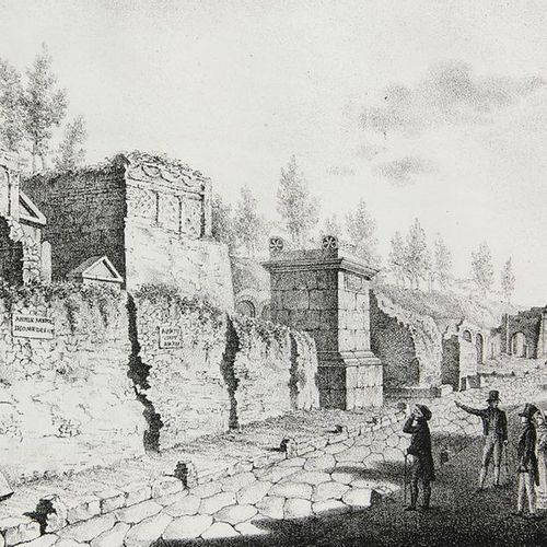 Pompeii    Goro of Agyagfalva, Ludwig    Walks through Pompeii. With engraved ti…