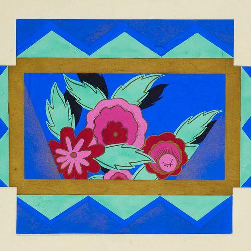 Sammlung von 20 prachtvollen Original Entwürfen für Art Déco Schachteln des Atel…