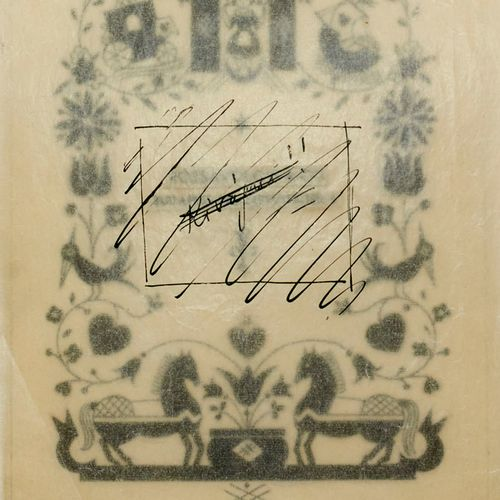 Kozma zugeschrieben, Lajos Entwurfszeichnung für Rózsavölgyi. 1930. Tuschfederze…
