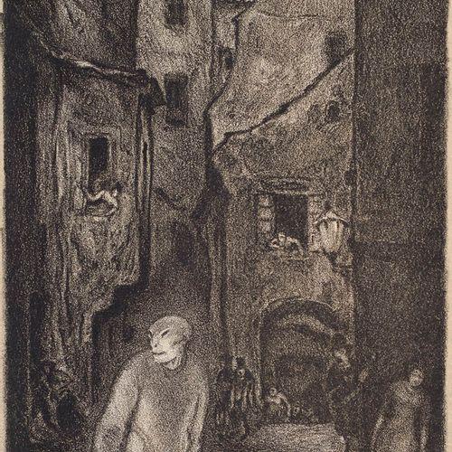 Steiner Prag, Hugo Der Golem. Prager Phantasien. Lithographien zu Gustav Meyrink…