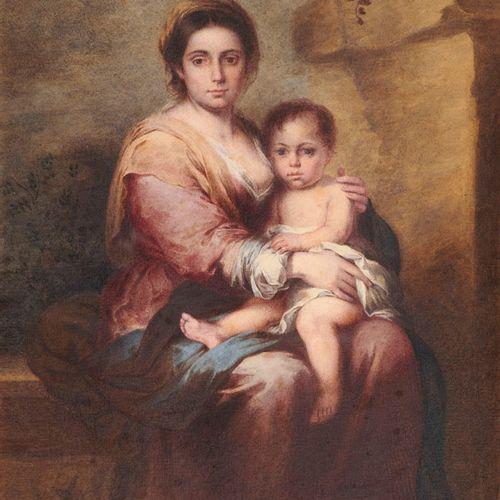 Zürcher, Jakob Madonna mit Kind. Aquarelle und Gouache auf Papier. 45 x 29,5 cm.…