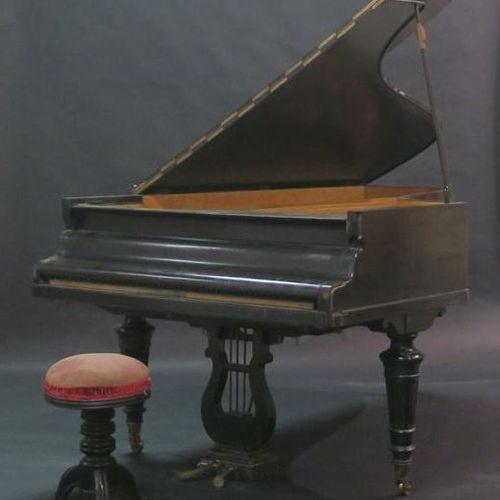 Piano demi queue ERARD en placage de bois noirci. XIXème siècle. 56632. A restau…