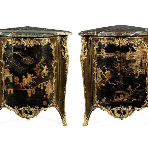 Paar Pariser Lack encoignuren, Jacques Dubois (1694 – 1763), Meister 1742, zug. …