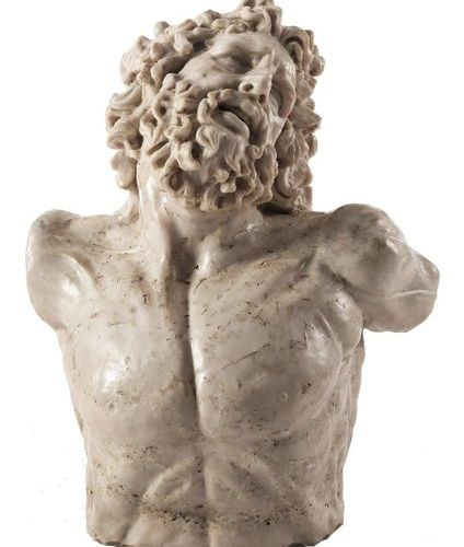 Marmorbüste des Laokoon Height: 68 cm. Italy. Bust of Laocoon, as known from the…