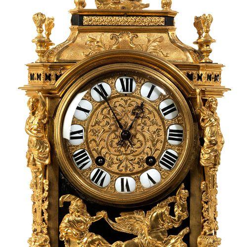 Bedeutende französische Louis XIV Kaminuhr Höhe : 64 cm. Breite : 31 cm. Tiefe :…