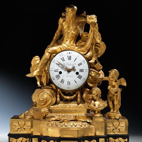 Bedeutende französische Louis XVI Pendule Höhe : 64 cm. Breite : 50 cm. Tiefe : …