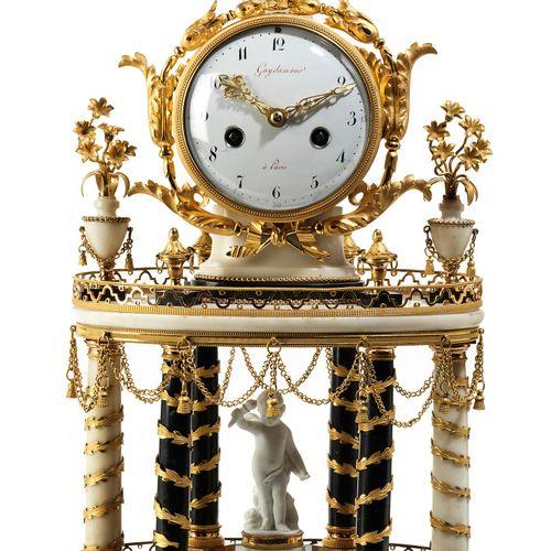 "Pariser Louis XVI Pendule 高度。52厘米。 Zifferblatt signiert ""Guydamour"" (Edme Philib…"