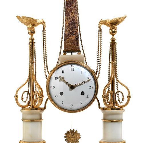 Louis XVI Portaluhr Höhe:58 cm. Breite:32,5 cm. Tiefe: 13 cm. Frankreich, um 178…