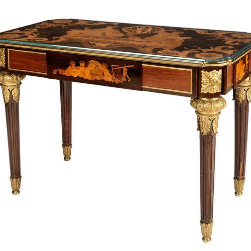 Tisch mit Allegorie der Sternenkunde Höhe: 77 cm. Breite: 108,5 cm. Tiefe: 61 cm…