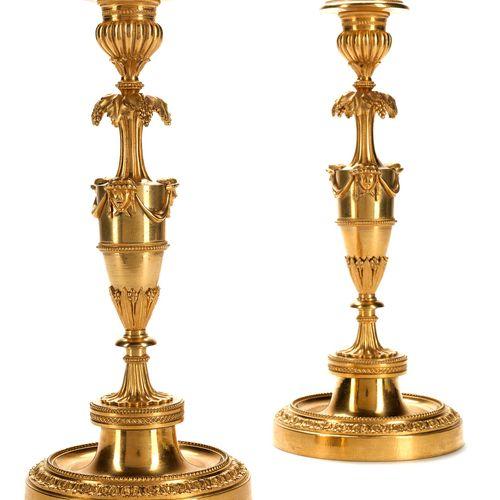 Paar Ormolu Kerzenstöcke Höhe: 25,7 cm. François Rémond (um 1747 1812), zugeschr…