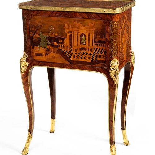Hochfeiner Louis XV table d'appoint 75 x 43 x 33 cm. Süddeutschland, um 1750 60.…