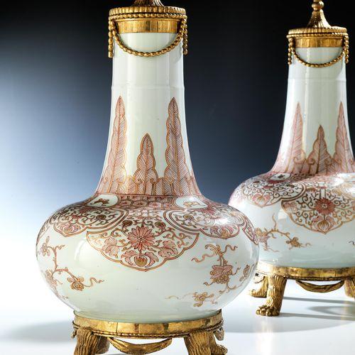 Paar chinesische Vasen mitLouis XVI Montierung Höhe: 45 cm. Durchmesser: 25 cm. …