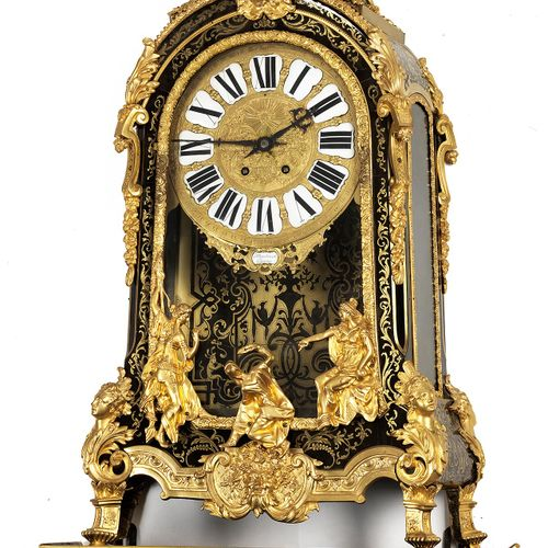 "Louis XIV Boulle Uhr Höhe: 78 cm.Gesamthöhe: 162 cm. Zifferblatt signiert ""J Mar…"