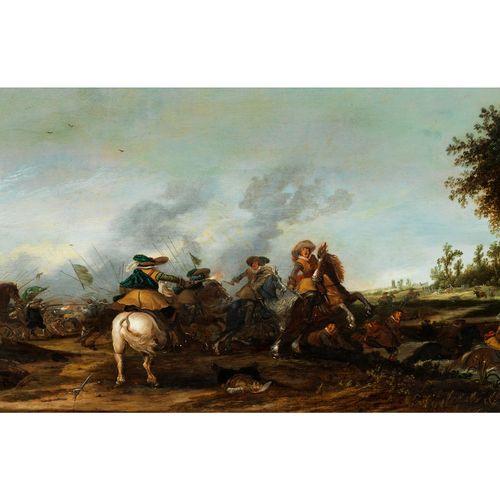 Pieter Pietersz. De Neyn, 1597 Leiden – 1639 ebenda SCHLACHTENDARSTELLUNG Öl auf…