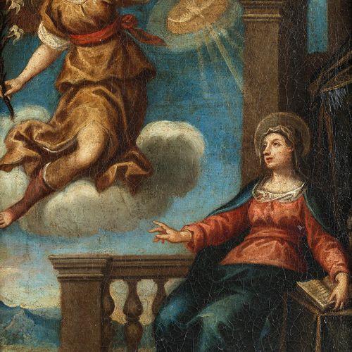 Mittelitalienischer Maler des 17. Jahrhunderts VERKÜNDIGUNG MARIAE Öl auf Leinwa…