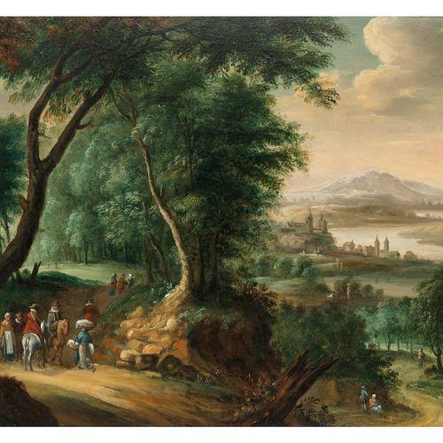 Haarlemer Meister der ersten Hälfte des 17. Jahrhunderts WEITE FLUSSLANDSCHAFT M…